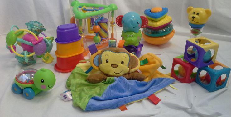Age 6-12 mo. Box of Toys